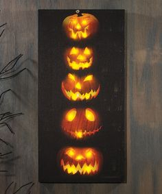 Look at this Pumpkin Stack Lighted Canvas on #zulily today!