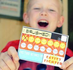 Superhero Brushing Punch Cards Printable | Burg Pediatric Dentistry