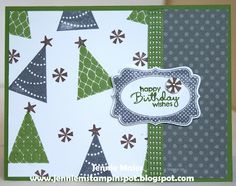 Jennie M's Stampin Spot: Birthday Card for a Color Challenge