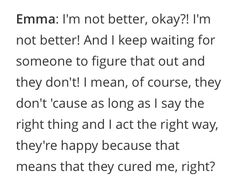Emma chota quote 1x19 Movie Quotes, True Quotes, Society Quotes, Ciara Bravo, Body Positive Quotes, Illness Quotes, Red Band Society, Quotes About Everything, Bad Memes