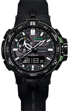 G-Shock Pro Trek Altimeter Barometer Compass Black/Green