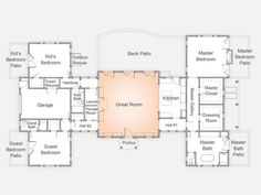 HGTV Dream Home 2015 Floor Plan - I would move the laundry room behind the kitchen with easy access to the MBR closet/dressing room.