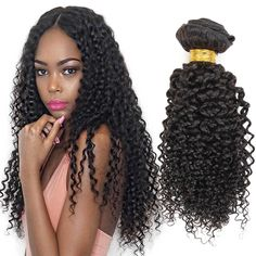 Morningsilkwig Kinky Curly Wave Human Hair Wig Hair Extensions for Black Women 100% Brazilian Virgin Hair Weaves 1b # Natural Black 100G/PCS