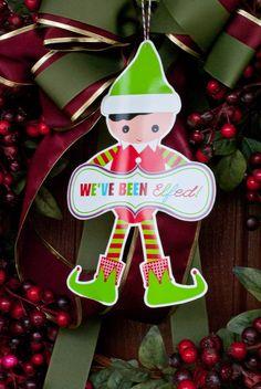 "Adorable printable ""We've been elfed!"" from @Anders Ruff Custom Designs"