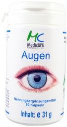 #eye#capsules#food supplement#retina#protect eye lens#medicura#MEDICURA Naturprodukte AG