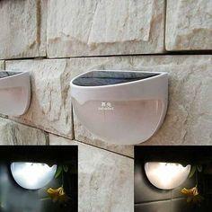 Outdoor Solar Powered 6 LED Light Fence Roof Gutter Garden Wall Lamp Warm White x1