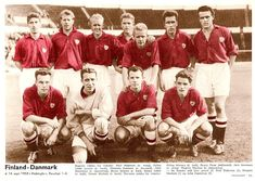 Equipos de fútbol: SELECCIÓN DE DINAMARCA contra Finlandia 14/09/1958