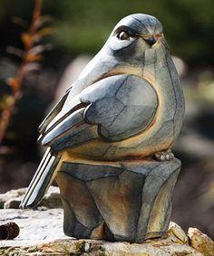 Carved Bird Statue #zulilyfinds