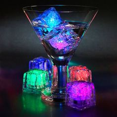 LED Ice Cubes ==> http://www.lovedesigncreate.com/water-submersible-decorative-led-ice-cubes-12-pack-multicolor/