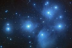 """The Pleiades star cluster, also known as """"the Seven Sisters."""""""