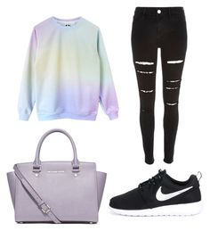 """""""Untitled #1974"""" by marta-moreno-1 ❤ liked on Polyvore featuring moda, MICHAEL Michael Kors, NIKE, women's clothing, women, female, woman, misses y juniors"""