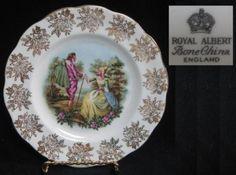 ROYAL ALBERT England ROA225 PASTORAL LOVERS PLATE