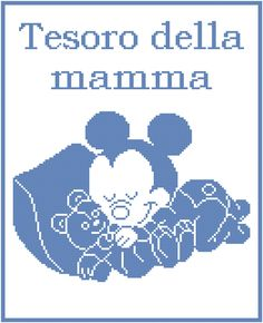 Schema filet uncinetto copertina con baby Topolno che dorme con orsetto Filet Crochet, Knit Crochet, Minnie Mouse, Cross Stitch Baby, Mickey And Friends, C2c, Knitted Blankets, Baby Booties, Baby Knitting