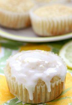 Tuscan Lemon Muffins with Lemon Glaze