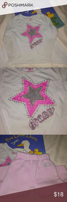 18 to 24 Months 5 Piece Cute Bundle Super cute items🌺All are  in great condition...  they grow so fast....they hardly can wear them out.  Why pay more? baby gap carters childrens place geranimals Shirts & Tops Tees - Long Sleeve