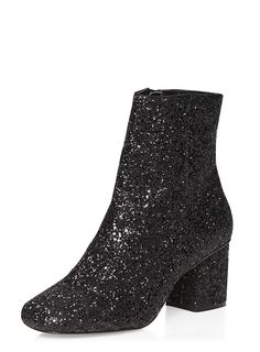 Buy your Dorothy Perkins Adele Glitter Ankle Boot online now at House of Fraser. Why not Buy and Collect in-store? Black Glitter Boots, Glitter High Heels, Glitter Shoes, Black High Heels, High Heel Boots, Bootie Boots, Shoe Boots, Black Ankle Booties, Ankle Boots