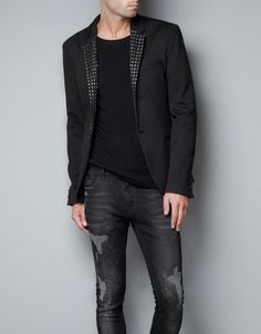 Studded Blazer /// you can swap this out with a normal tux jacket to add an edgy punch to your tuxedo.