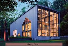 <p> The architect Adam Kalkin built Bunny Lane on his family's property in…