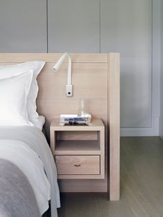 Piet Boon Styling by Karin Meyn | Bedroom, wooden headboard design.