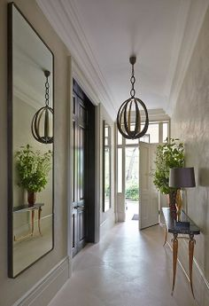 This foyer lighting adds a jewelry like impact and a touch of elegance.