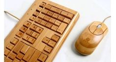 Impecca Full Bamboo Wireless Keyboard and Mouse