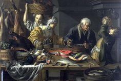 """Interior of a Kitchen"" by Samuel Hofmann (1591-1648) | FAMSF Explore the Art"