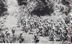 South African infantry advance towards the Kahe battlefield, March 1916, via Flickr. Kilimanjaro: The Lost History  http://africanencounters.blogspot.com/