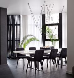 This black and white apartment was designed for a couple that loves to party   CONTEMPORIST