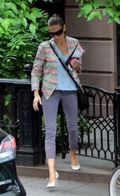 Sarah Jessica Parker runs errands in New York City in her MiH Jeans Bonn 42 Rosy http://www.mih-jeans.com/womens-jeans/the-bonn-42-rosy.html