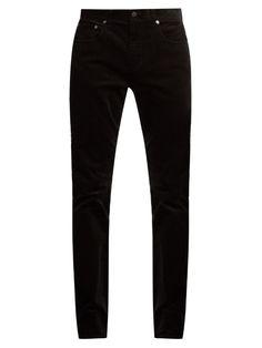 VINCE 718 Slim-Leg Cotton-Corduroy Trousers. #vince #cloth #trousers