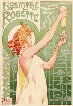 Affiche Prints AZ08 Vintage High Quality 1896 Absinthe Robette Liqueur Livemont Art Nouveau Advertisement Poster Re A high quality reproduction of this beautiful vintage poster All our prints are professionally andamp