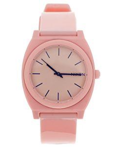 pink watch.