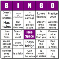 Ice breaker games for staff just b cause for Ice breaker bingo template
