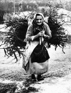"""""""Weißer Tod"""" und """"schwarzer Hunger"""": Eine alte Frau sammelt Holz im Regensburger Raum (Foto von 1946). Frost und Unterernährung forderten zahlreiche Todesopfer nicht nur in Deutschland, sondern in ganz Europa. In Russland starben nach Schätzungen von Historikern rund zwei Millionen Menschen zwischen 1946 und 1948 an den Folgen von Kälte und Mangel. Auf den bitterkalten Winter folgte 1947 ein extremer Sommer - der heißeste und trockenste seit 1921."""
