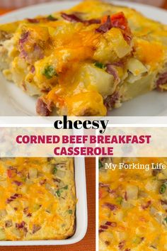 Cheesy and yummy corned beef breakfast casserole. Filled with corned beef and other yummies for a fulfilling breakfast. Brunch Recipes, Gourmet Recipes, Breakfast Recipes, Healthy Recipes, Budget Recipes, Brunch Ideas, Copycat Recipes, Breakfast Ideas, Healthy Food