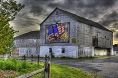 """Freedom Is Never Free"" (Patriotic Barn, Bethlehem Township, PA"