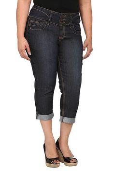 Torrid Denim - Dark 3-Button Cropped Jeans #mytorridsummer