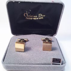 Vintage Chirstian Dior Men's Cuffliinks Gold by GretelsTreasures