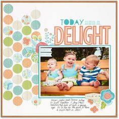 Get creative with repeating patterns and shapes on your scrapbooking layouts!