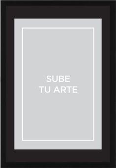 Sube Tu Arte Framed Print, Black, Contemporary, White, Black, Single piece, 20 x 30 inches