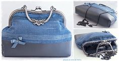 Bolso Blue Retro Chic / Blue Retro Chic Kisslock  bag
