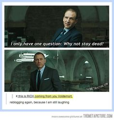 O_O I THOUGHT that guy was Voldemort when I saw him in the second Nanny McPhee film! Also, spellchecker has a problem with Voldemort, by the by. We Are Bears, Movies Quotes, No Muggles, Harry Potter Love, Skyfall, To Infinity And Beyond, Mischief Managed, My Tumblr, Actors