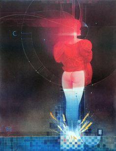 Bill Sienkiewicz and Jeffrey Jones, Elektra poster (Marvel/Graphic Collectibles, 1986-88).