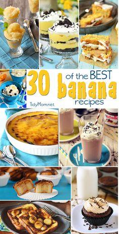 30 of the Best Banana Recipes at TidyMom.net