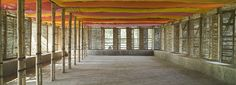 Space made of earth and bamboo. METI Handmade school in Rudrapur- photo by Kurt Hoerbst