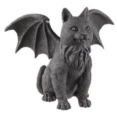 Winged Cat Gargoyle Statue - CC6321 by Medieval Collectibles