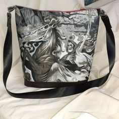 OOAK Handmade faux leather goth grim reaper skull biker Shoulder Bag Handbag Inside Bag, Grim Reaper, Black Faux Leather, Bag Making, Diaper Bag, Biker, Goth, Crossbody Bag, Skull