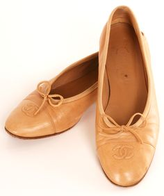 d1faa49fa9 Ballet Flats with Bow / by Chanel Chanel Flats, Coco Chanel, Cute Flats,