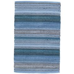 Dash and Albert Rugs Gypsy Stripe Denim/Navy Area Rug