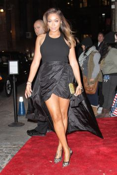 lala anthony legs | La La Anthony shows a little leg on the red carpet after arriving at ...